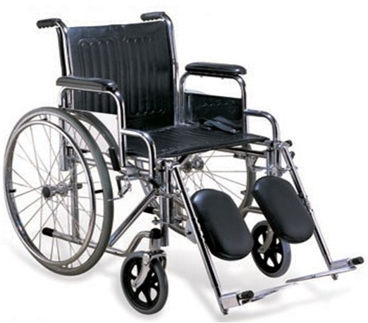 Heavy Duty Wheelchair with Detacheable Armrest and Adjustable Footrest - SM 902C