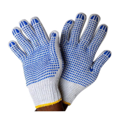 Cotton Gloves PVC Dotted