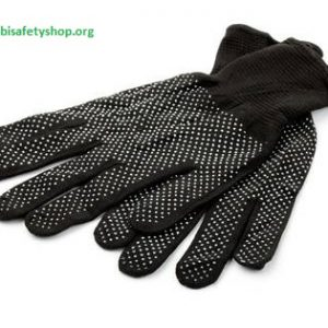 PVC Dotted Black Cotton Gloves