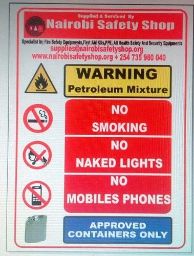 Pump Island Safety Signage