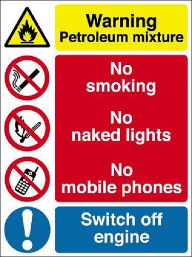 PETROL STATION WARNING SIGNS
