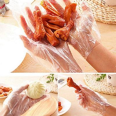 Clear Polythene Gloves