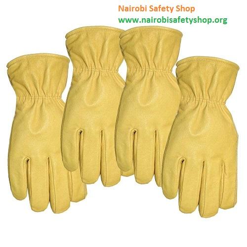 Yellow Pig Skin Gloves