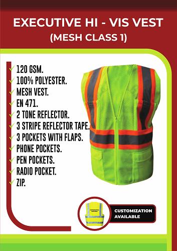 EXECUTIVE HI-VIS VEST(MESH CLASS 1)