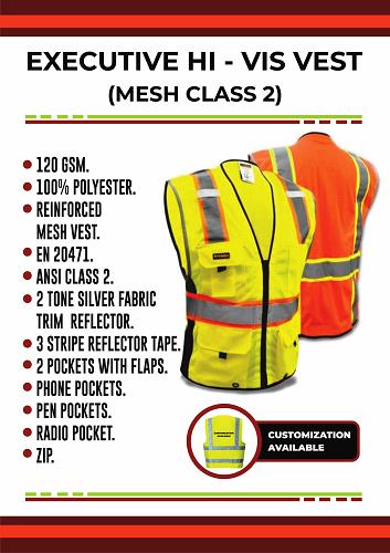 EXECUTIVE HI-VIS VEST(MESH CLASS 2)