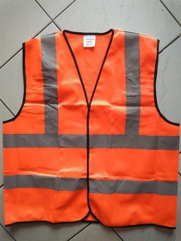 4 Stripped Orange Reflective Vest
