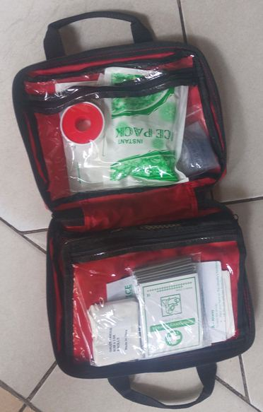 Small Red Canvas First Aid Kit